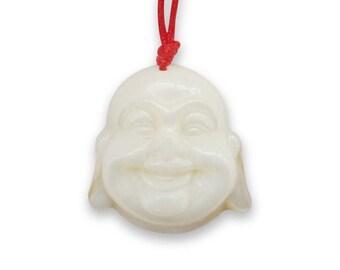 Natural Sea Shell Tibet Buddhist Buddha Head Charm Amulet Talisman Pendant 22mm x 21mm  T2911