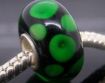 1Pc Murano Glass Charm Bead Fit European Bracelet Necklace Jewelry 14mm x 7.5mm  jaz375