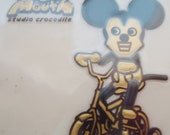 The Authentic Mickey Mouse Japanese Sticker.80s.Rare