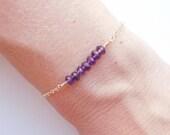 Amethyst Bracelet - Beaded Jewelry
