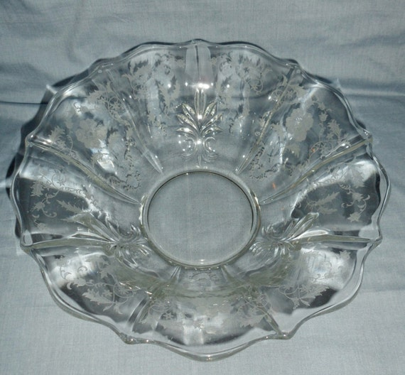 fostoria etched shirley pattern 11 falred baroque glass