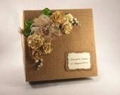 Custom Wedding Album, Burlap Photo Album, Personalized Wedding Scrapbook, 1st Anniversary Gift, Parent Thank You Gift