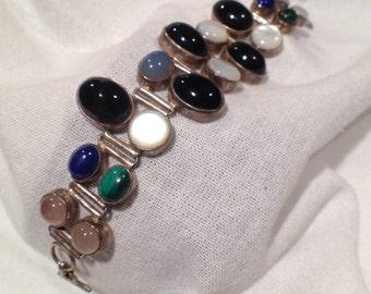 Modern Silver Jewelry Vintage Gemstone Bracelet Funky Jewelry Rare Beauty