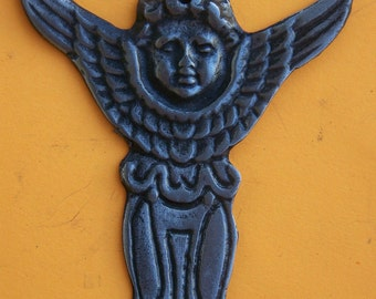 Tin/Silver Angel with Shield Milagro Ex Voto
