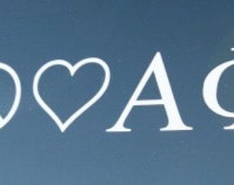 Peace Love Alpha Phi Decal