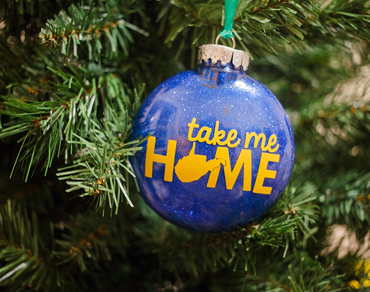 Wvu Christmas Ornaments