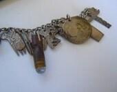 Reserved for Marilyn - Sterling Silver Charm Bracelet World War II