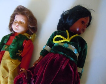 Cowgirl and Native American Doll Storybook Type Dolls