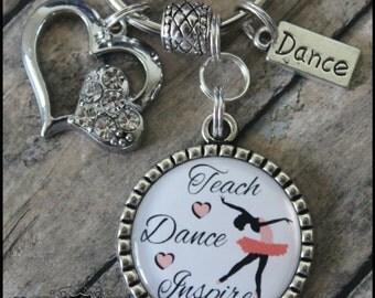 Dance teacher keychain...Ballet instructor...friend keychain...teacher...sister..grandma...sweet 16