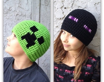 Minecraft hat Beanie   - all sizes available