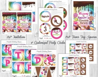 Willy Wonka Party Decorations, Printable Party By Cutie Putti Paperie