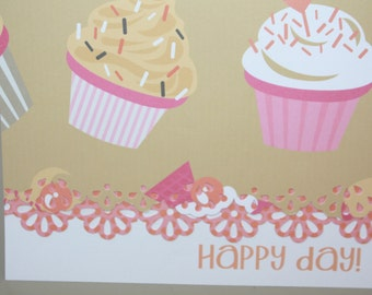 Happy Birthday Cupcake Note Cards