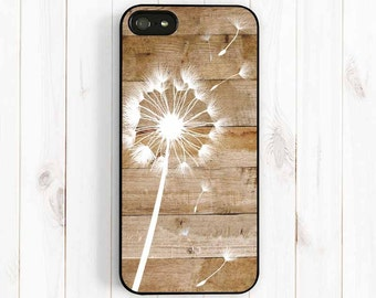 Dandelion iPhone Case, Personalized Monogram Printed image Wood Pattern iPhone 7 6 5 iPhone 5C iPhone 4S Samsung Galaxy S3 S4 S5 Note 3 np38