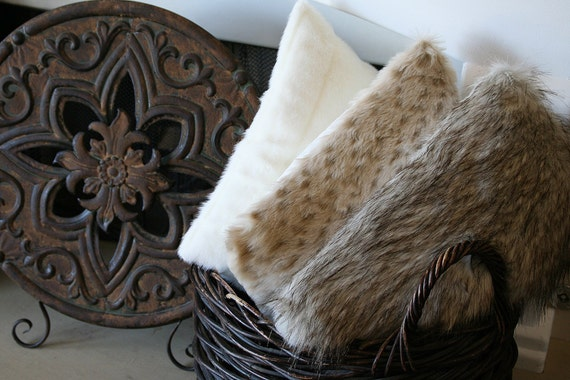 Faux Fur Throw Pillow • Snow Leopard • Decor Pillow • Holiday Gift • Plush Fur Bedding • Animal Print Decor • Fur You Snow Leopard 20x20