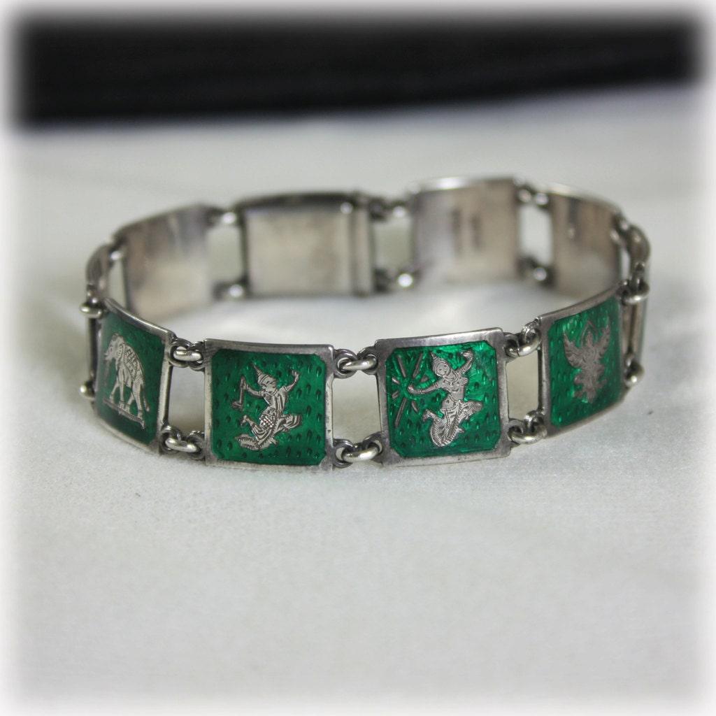 sterling bracelet siam sterling green bracelet link