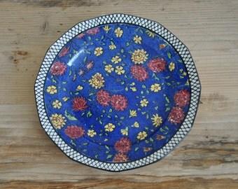 Vintage china Royal Doulton - Cabinet plate - Floral design