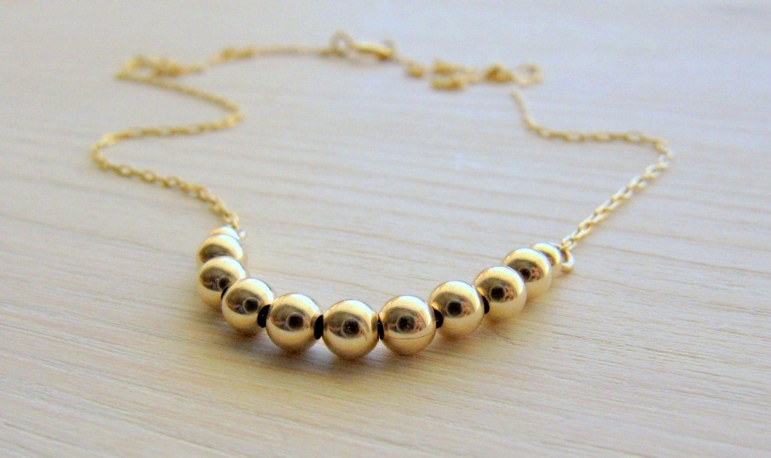 small gold necklace thin gold necklace tiny gold by lirlir