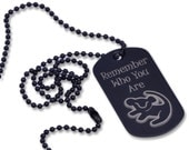 Personalized Lion King Remember Who You Are Dog Tag Red Black Silver