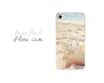 Beach iPhone Case, Conch Shell iPhone Cover, Seashell iPhone 5 Case, Ocean iPhone Cover, Seashell iPhone 4 Case, Shell iPhone Case