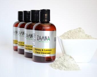 Honey & Lemon Face Cleanser 4 OZ; Facial Clenaser; Natural Face Cleanser; Cleanser; Honey Face Wash; Lemon Soap; Handmade Face Cleanser
