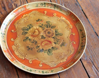 Vintage Style... Vintage Asian Floral Tray
