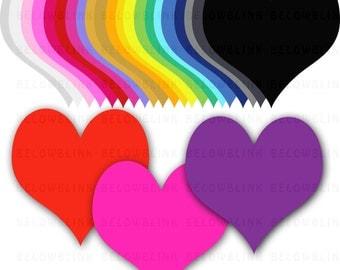 Hearts Digital Clip Art Commercial Use - Instant Download  - DP160