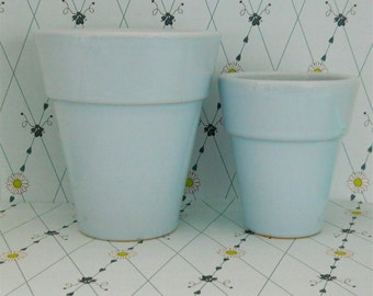 Baby Blue Planters - Set of 2