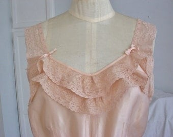 1930's silk nightgown HOLLYWOOD GLAMOUR