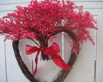 Heart Wreath  Natural Wreath  Heart Wreath  Valentine Wreath  Wedding Decor  Wedding Wreath