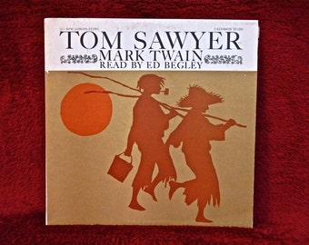 TOM SAWYER by Mark Twain...Read By Ed Begley - 1960s Vintage Vinyl Record Album