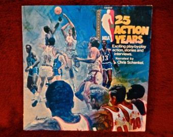 25 ACTION YEARS...25th Anniversary of the NBA - Narrated by Chris Schenkel - 1971 Vintage Vinyl Record Album