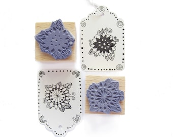 2 rubber stamps - FLOWERS