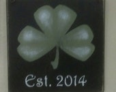 Shamrock Wall Accent Established Sign
