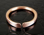 Stackable Copper Ring Mens or Womens Any Size Made to Order Ring