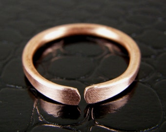 Mens Copper Wire Ring, Womens Copper Ring Any Size, Bare Copper Ring, Stackable Ring