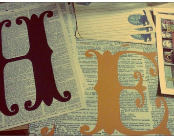 Handmade Vintage Style Halloween Typography Letter Prints from Curious London