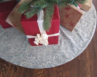 """Light blue Christmas Tree skirt - 54"""""""