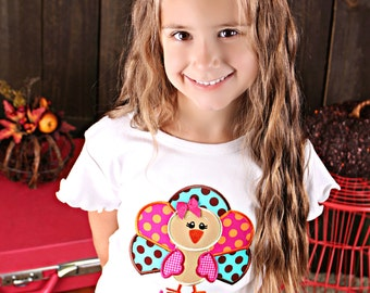Fun Girls Jewel Toned Turkey Shirt