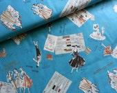 Japanese Fabric Cotton Yuwa - Suzuko Koseki - Fashion Designer Blue - a yard