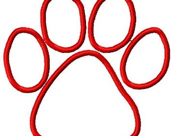 Instant Download APPLIQUE Paw embroidery design - Handmade embroidery design - Machine Embroidery Design - Digital Design File