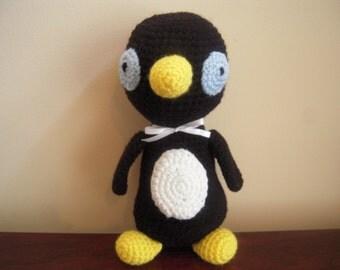 Crocheted Stuffed Standing Penguin