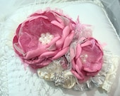 Eau So French, Dusty Rose Baby Girl Flower Headband, Headbands, Couture Headband, Wedding, Christmas Headband