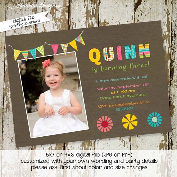 party invitations first birthday invitation child's name mormon party bash lds baptism twin ultrasound (item 225) shabby chic invitations