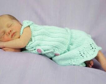 Gracie Full Skirt PATTERN, Newborn-3 Months Size, Baby Girls, Spring Knits, Lace Dress, Knitting Patterns for Newborns