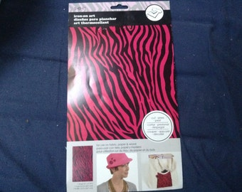 Pink and Black Zebra/Tiger Print Iron-on Print