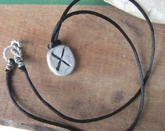 rune necklace GEBO runes pendant unisex symbol one of a kind wicca wiccan jewelry pagan magic larp amulet viking
