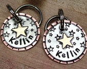 Small Star Dog Tag- pet tag stars perfect for small dogs and cats- Kellin