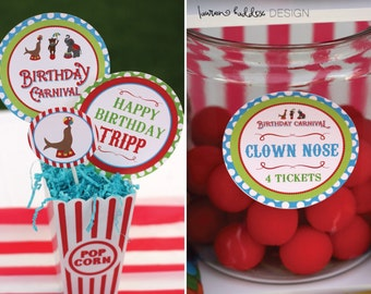 DIY Printable, Carnival PARTY PACK