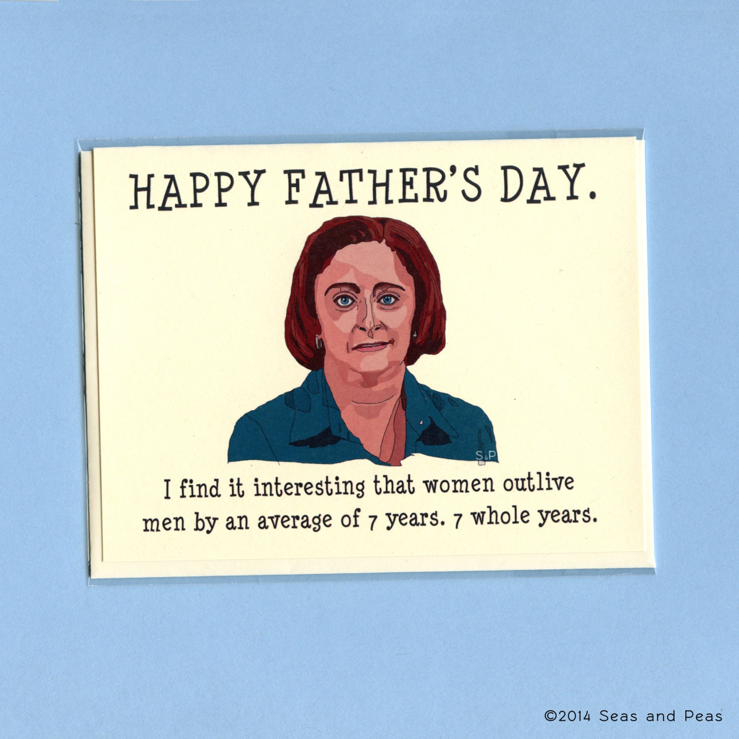 Funny Fathers Day Quote: DEBBIE DOWNER Father's Day CARD Funny Father's Day