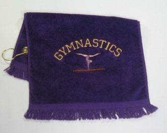 Purple gymnast towel